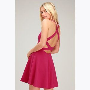 New LULUS Katrina Strappy Backless Skater Dress XL